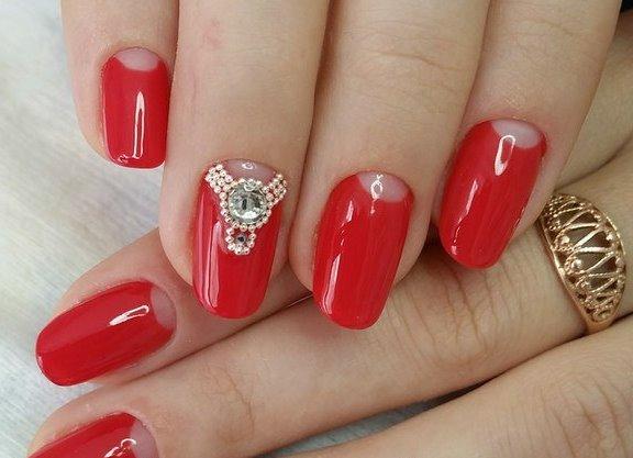 Красные ногти дизайн фото 2016