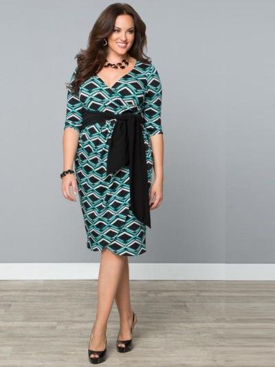 Платья для полных женщин 50 - 55: фото фасонов Фасон