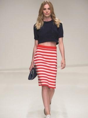 Женские платья морского стиля из натуральных тканей