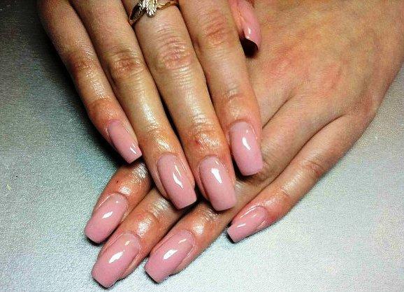 Фото наращивание ногтей однотонные