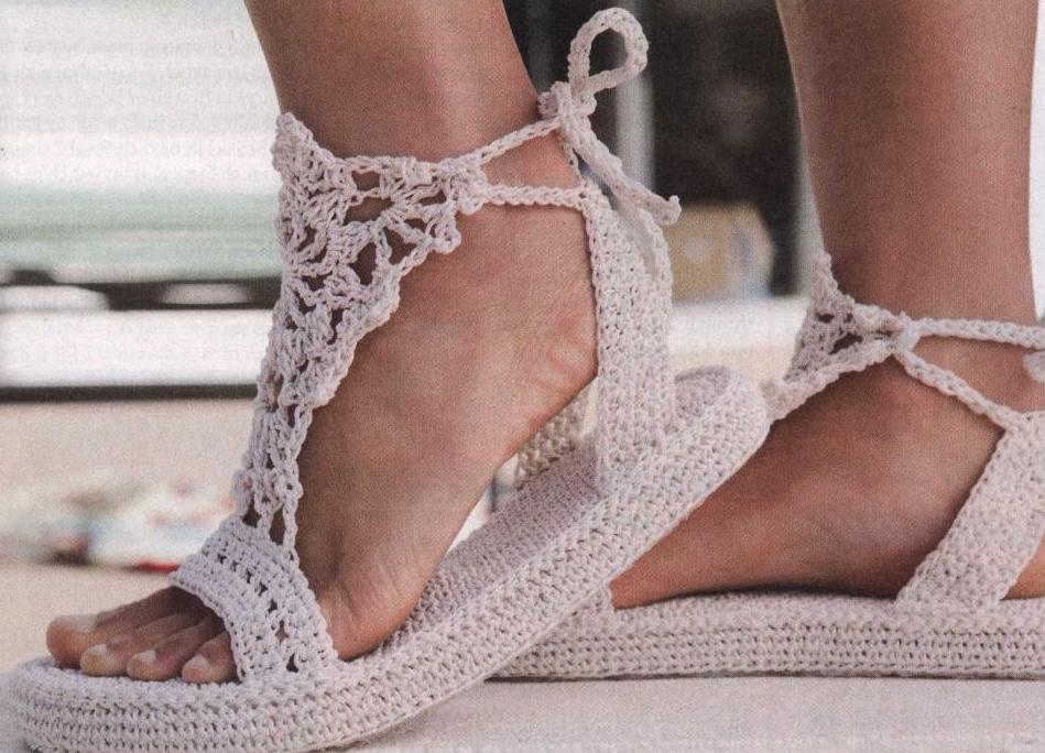 Туфли своими руками вязать