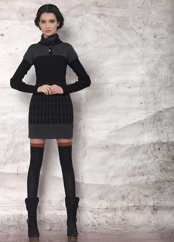 Платье из трикотажного чулка