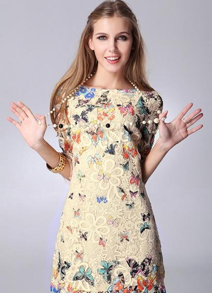 Платье с принтом бабочка