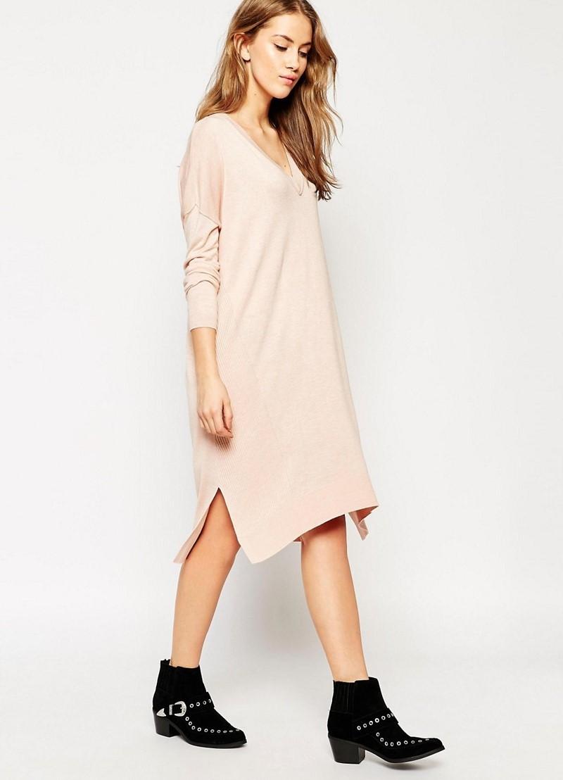 Прямое платье с разрезом фото