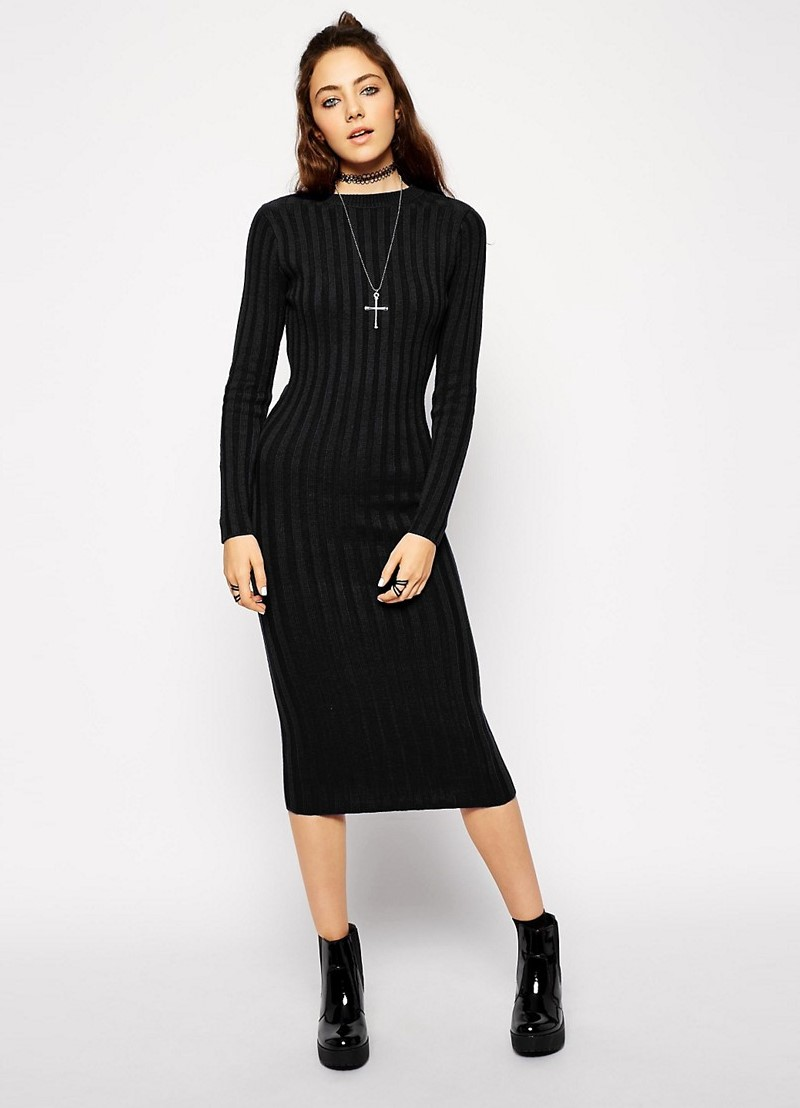 Платье ниже колена в обтяжку фото