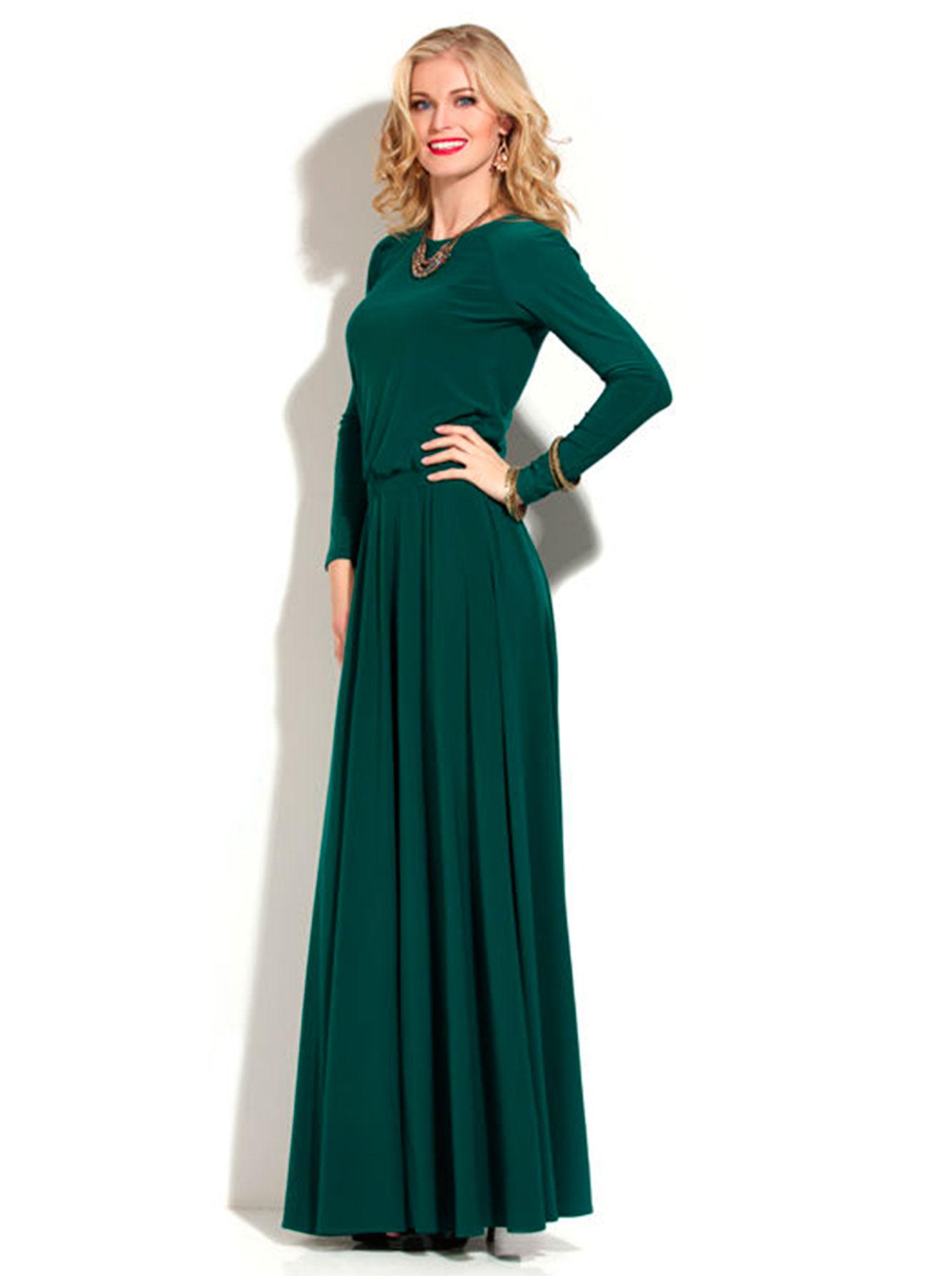 платье в пол фото с рукавом