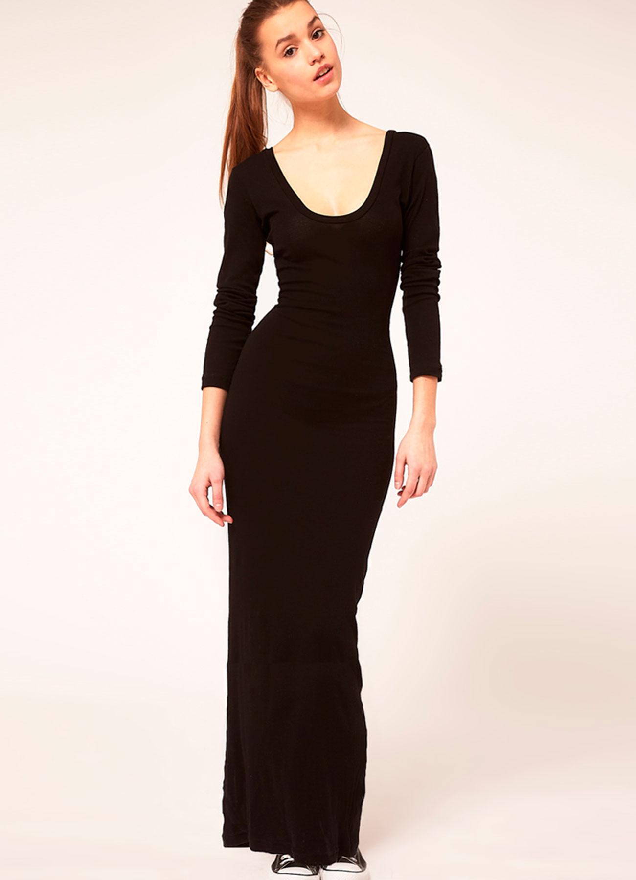 Длинное платье своими руками с длинными рукавами
