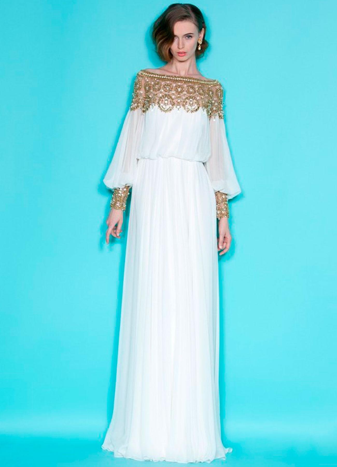 Длинные платья с длинными рукавами
