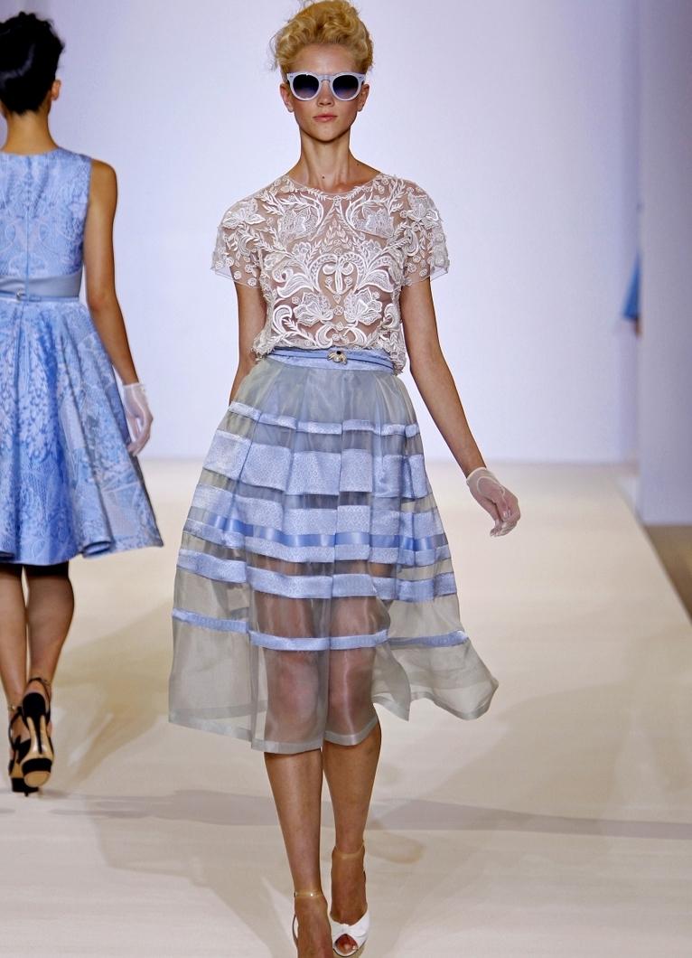 Прозрачные юбки с подкладом