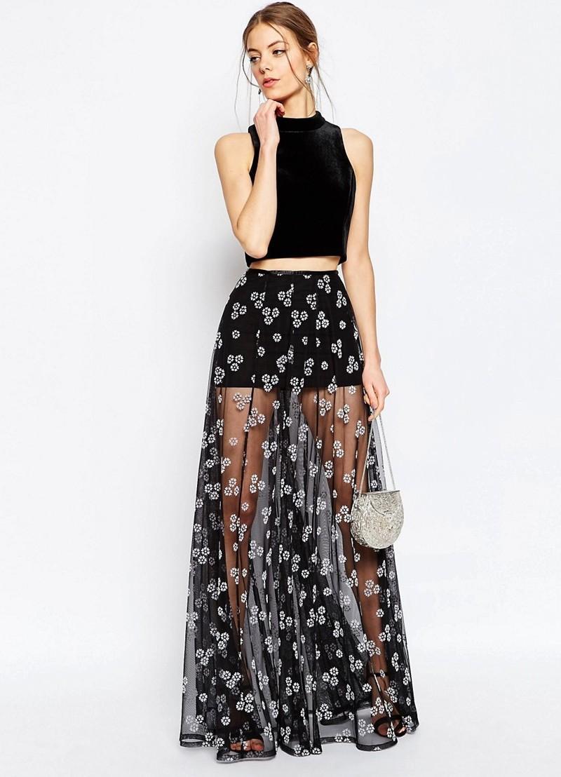 Короткая прозрачная юбка фото