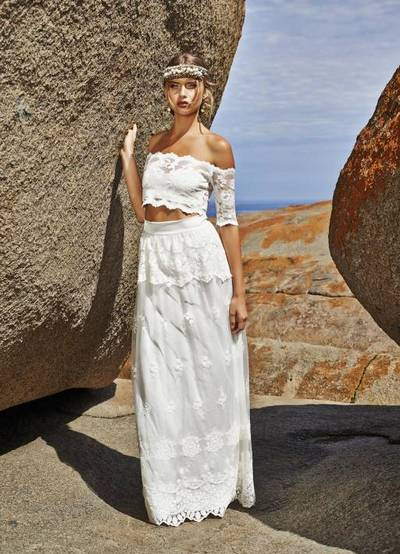 Раздельное кружевное платье