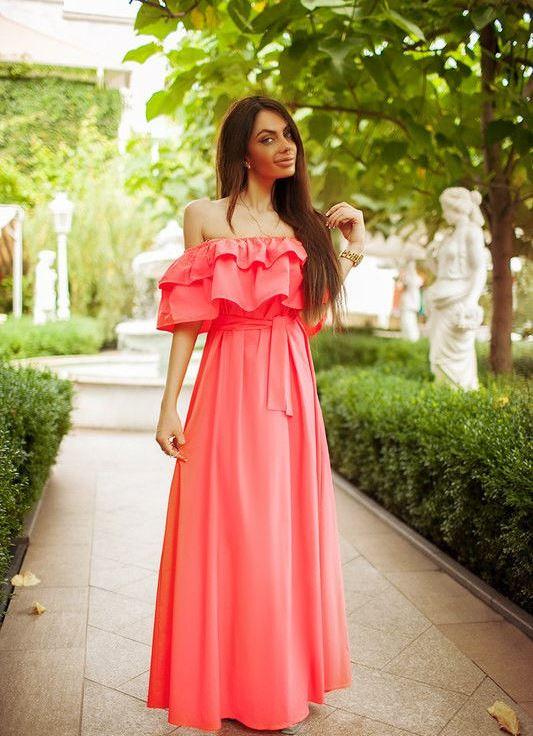 3452944102ce61e Длинный сарафан платье на резинке - Модадром