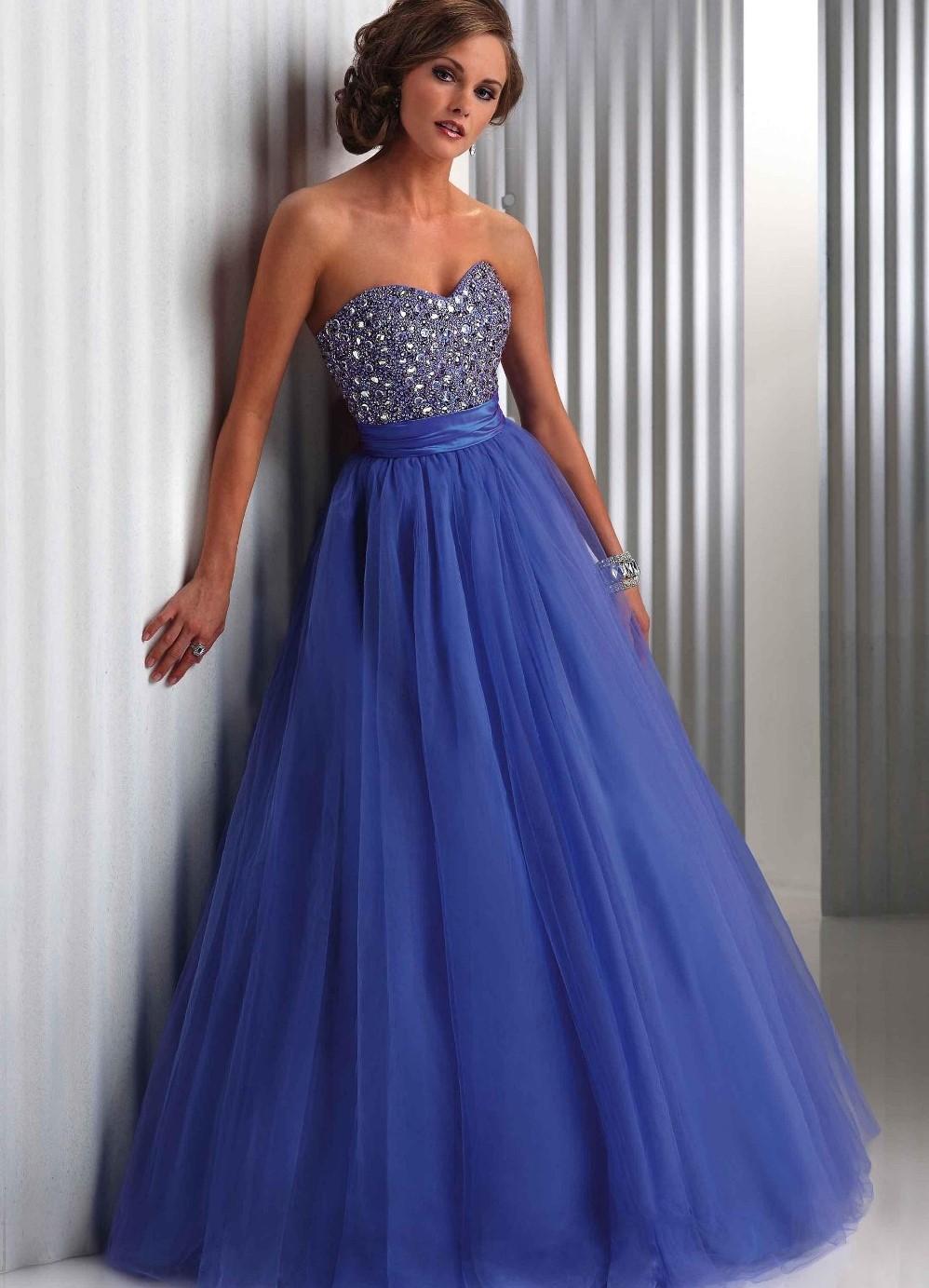 Платья на выпускной синее фото