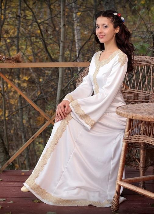 Свадебные платья в русско народном стиле