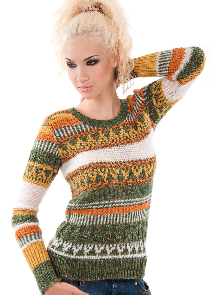 Женские Вязаные Пуловеры