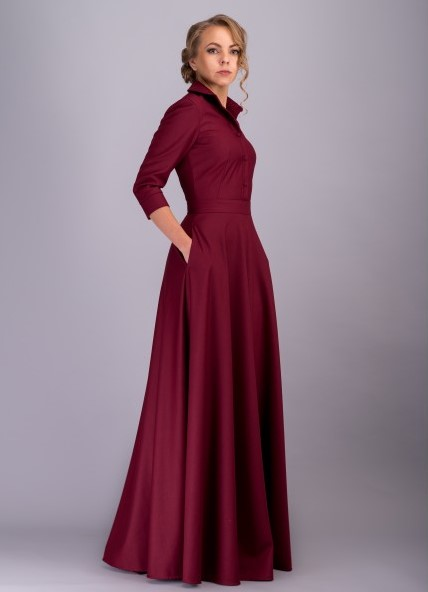 Платья с юбкой полусолнце в пол