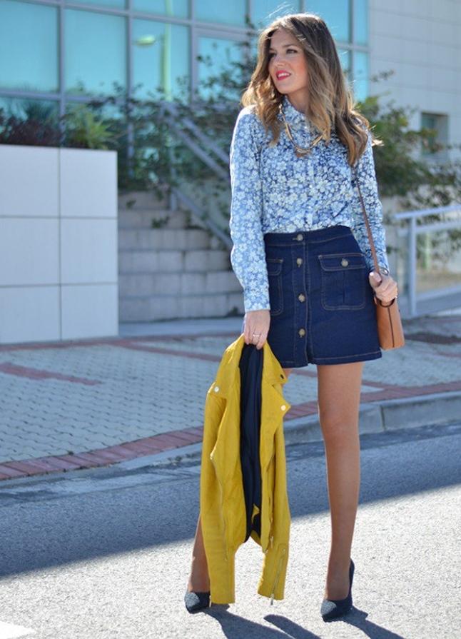 джинсовая юбка с пуговицами спереди своими руками