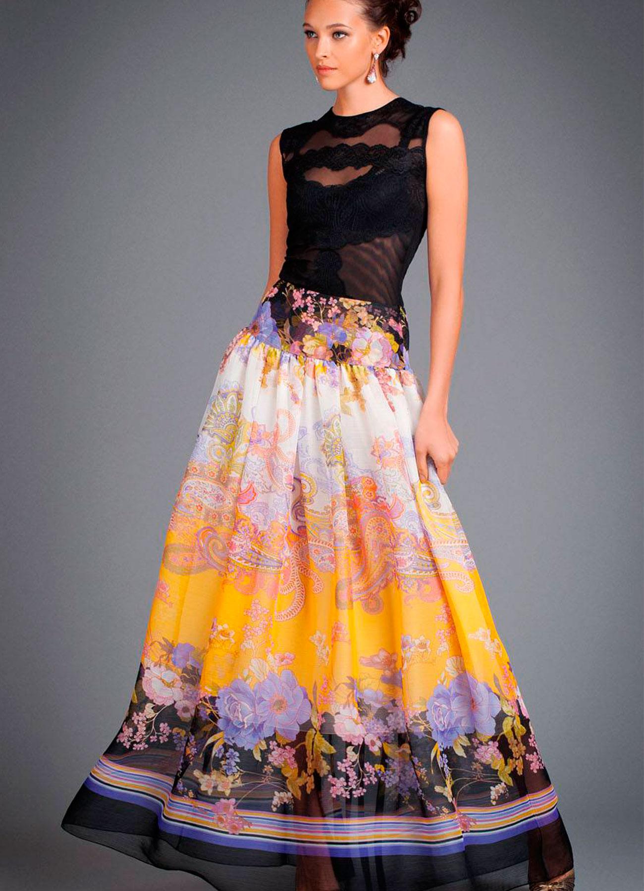 длинная юбка фото выкройка