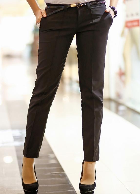 Классические зауженные штаны женские