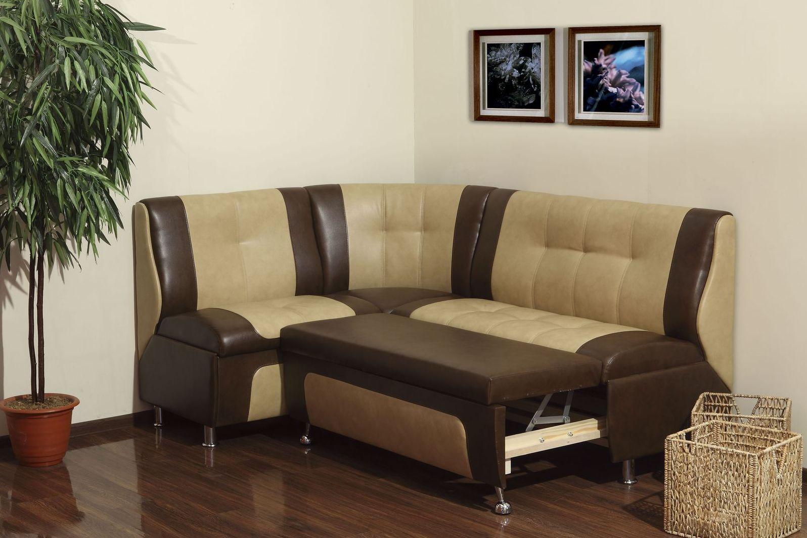 угловой диван на кухню со спальным