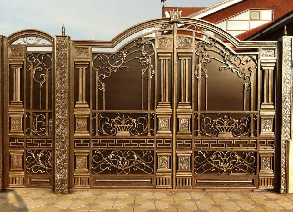 смотреть фото кованые ворота