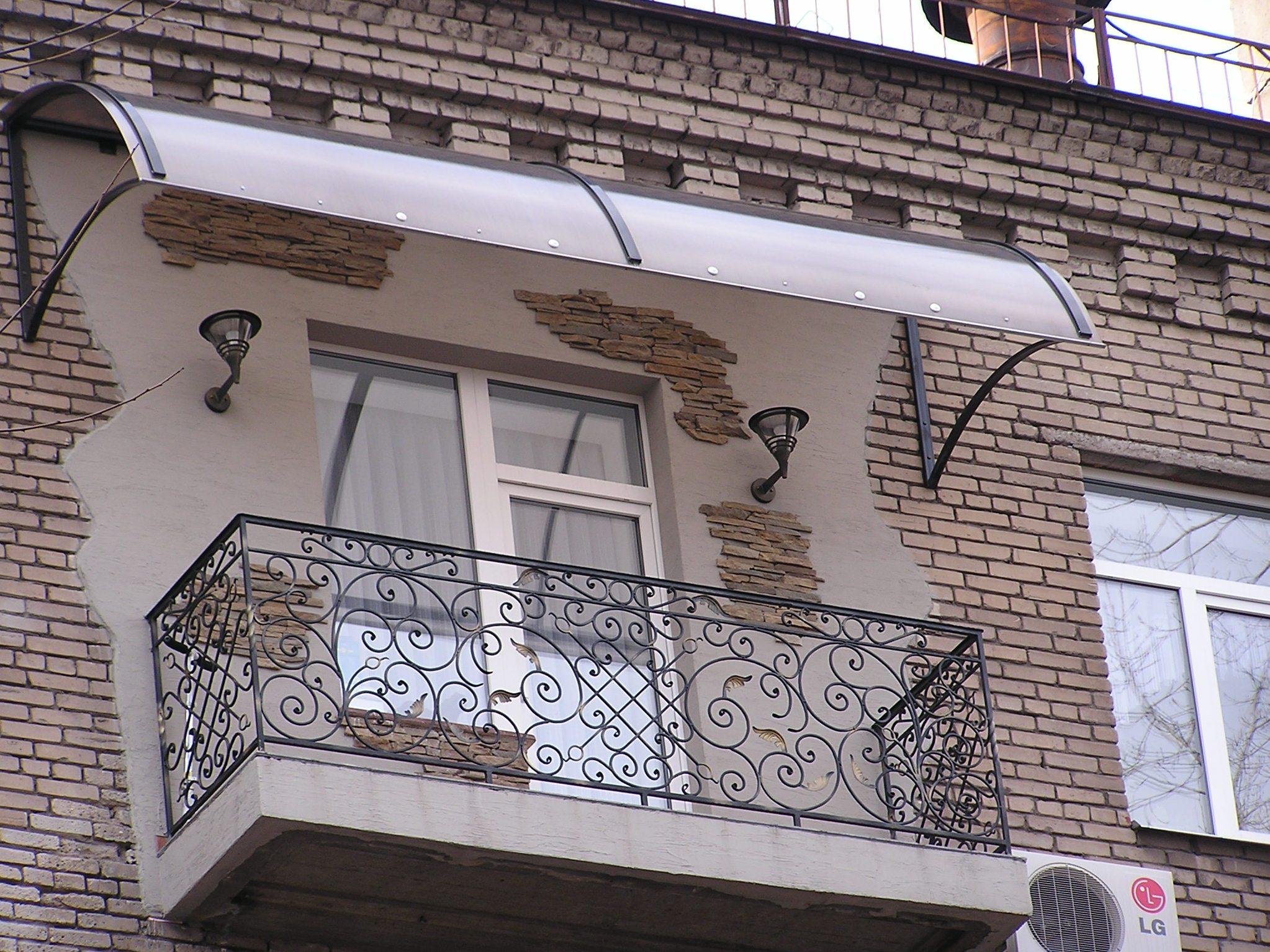 Как сделать козырек над балконом