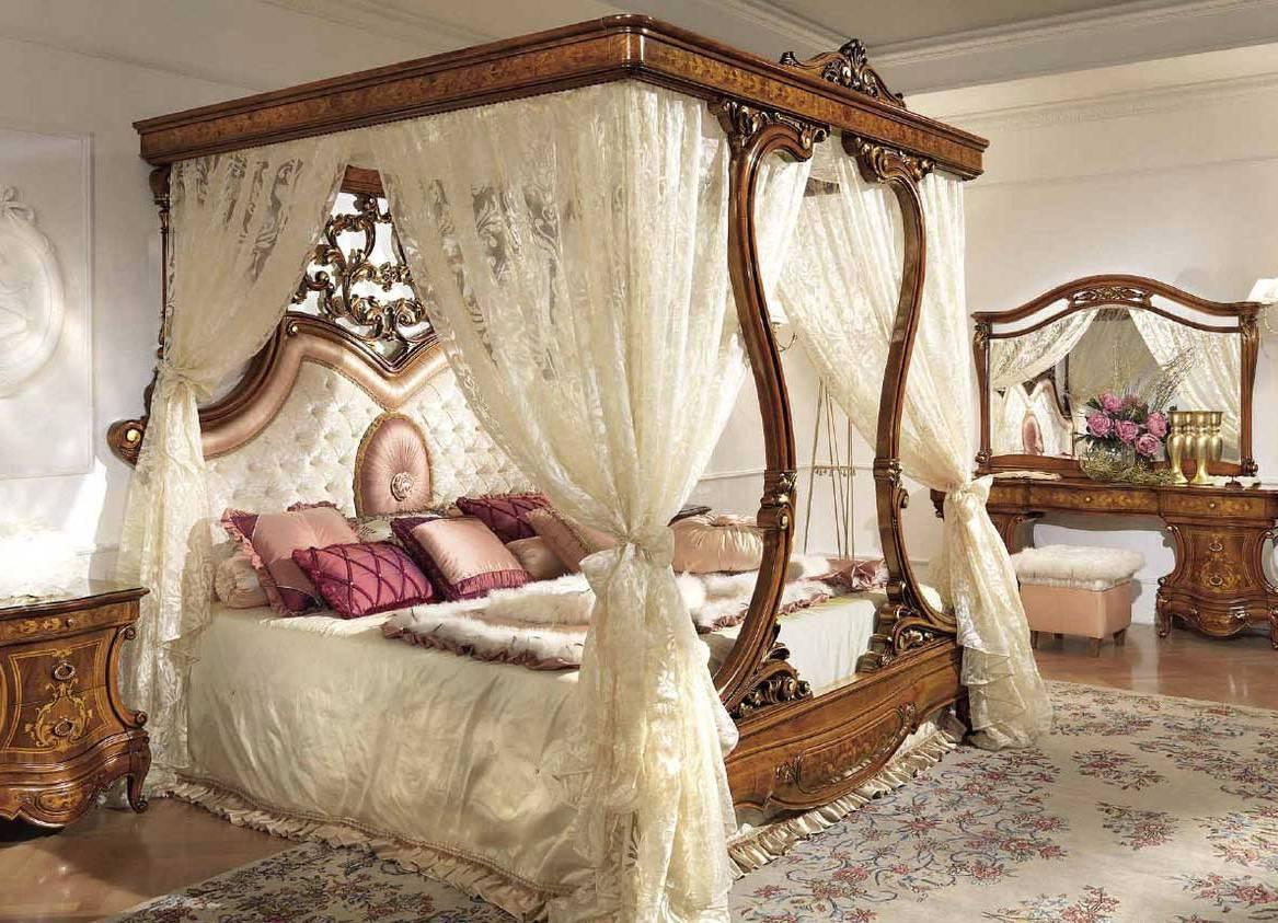 Балдахины для двуспальной кровати своими руками