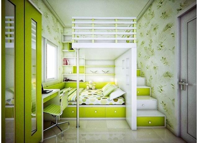 Дизайн спальни маленькой детской