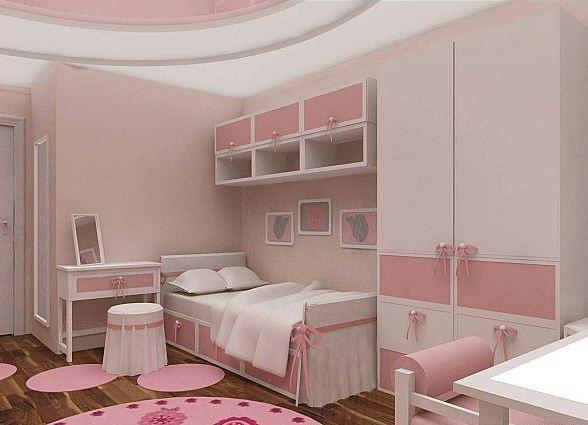 Дизайн маленькой спальни для девочки