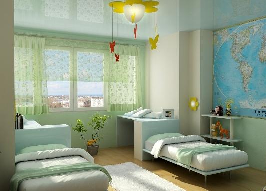 Дизайн детской комнаты для мальчика и девочки в одной комнате