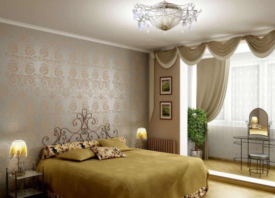 Дизайн комнаты совмещённой с балконом