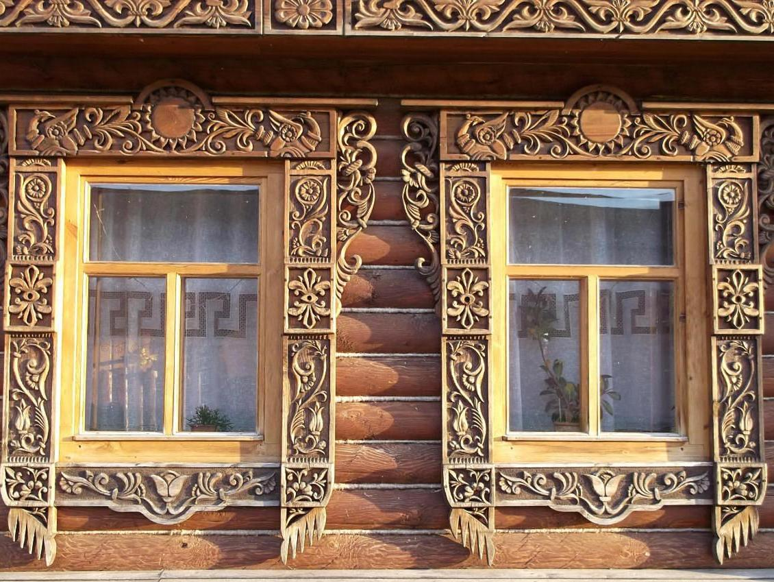 Наличники на окна в деревянном доме своими руками
