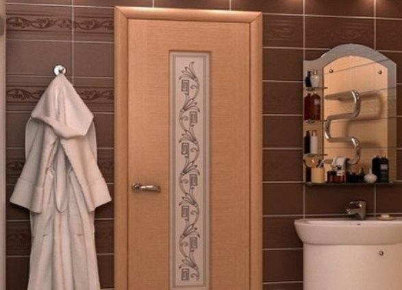ламинированная дверь для ванной комнаты
