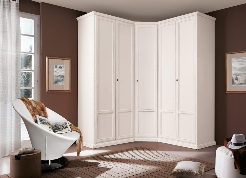 Шкафы купе угловые белые