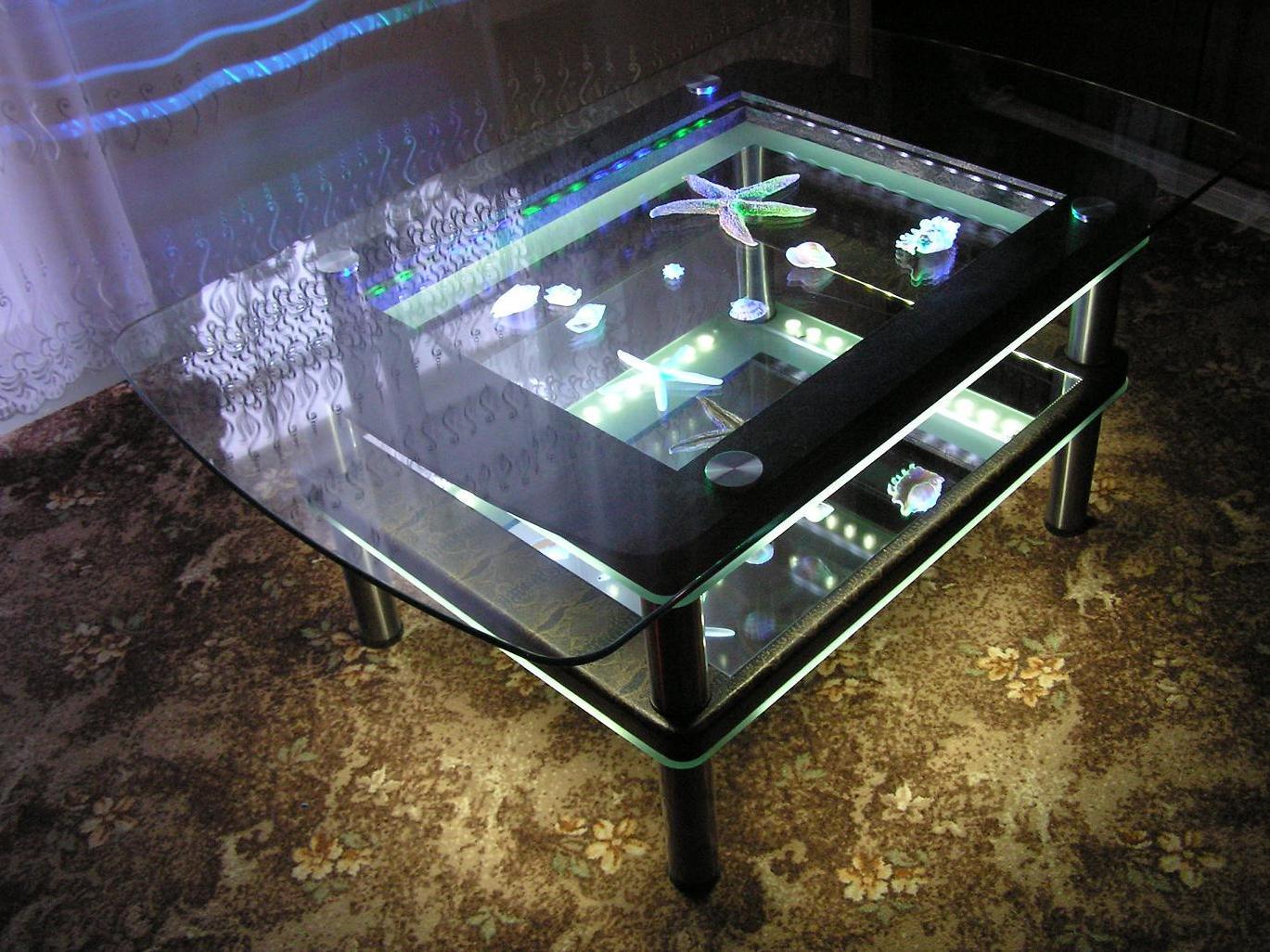 Как сделать стол из стеклопакета