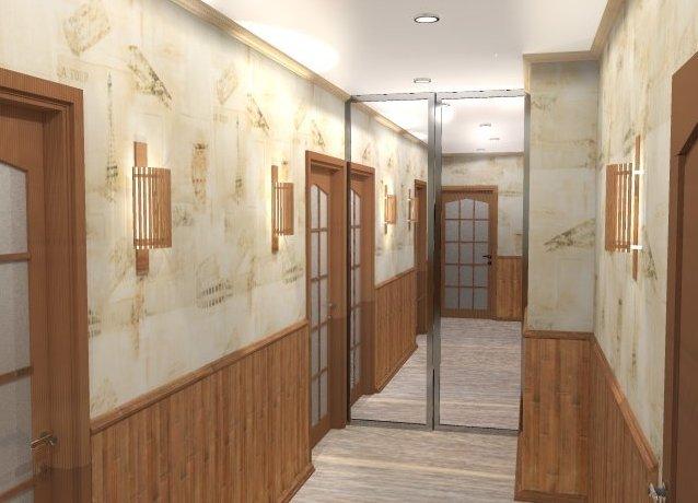 Ламинат на стенах в прихожей интерьере фото