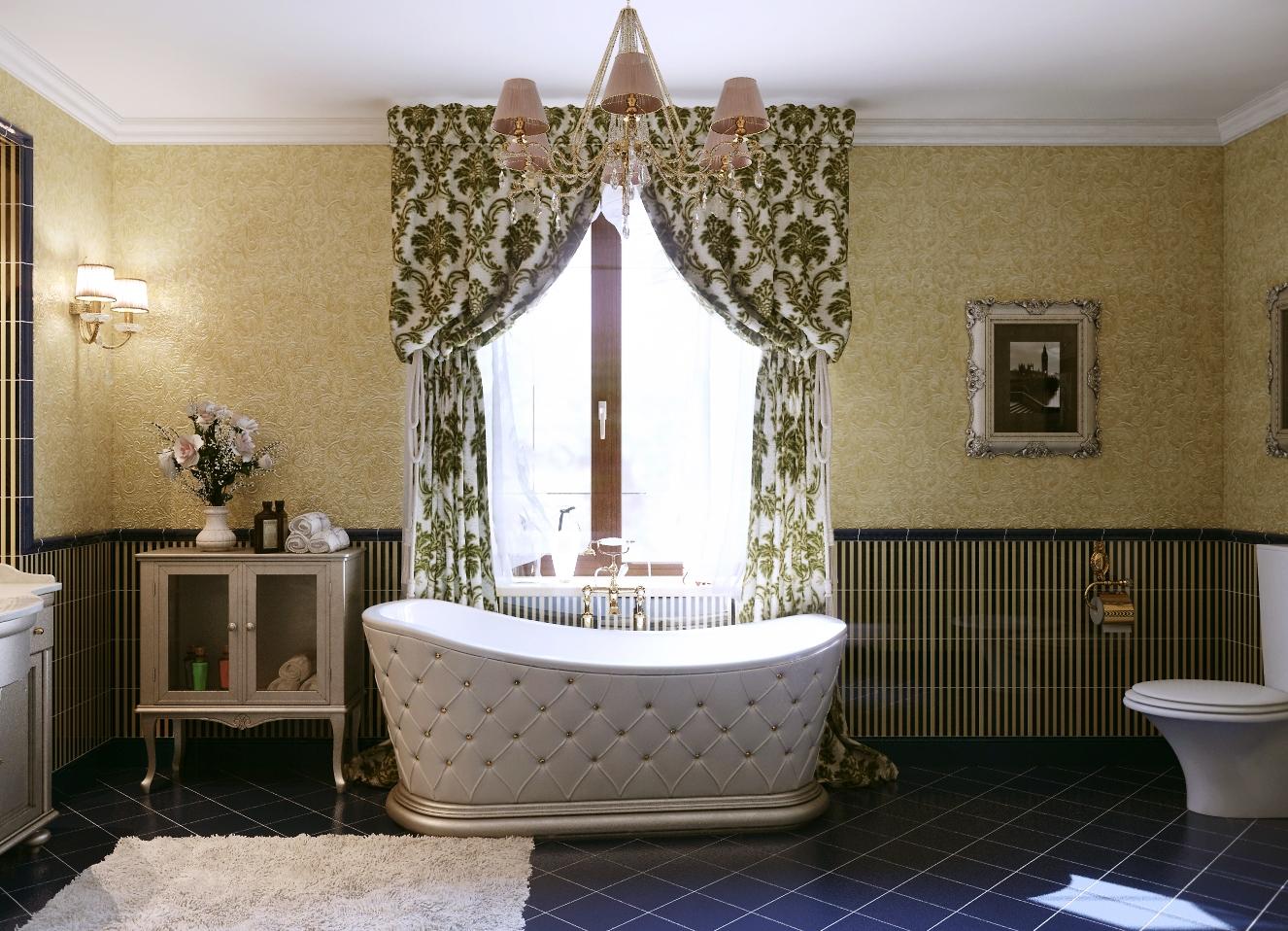 Дизайн в ванной комнате совмещенной с туалетом своими руками