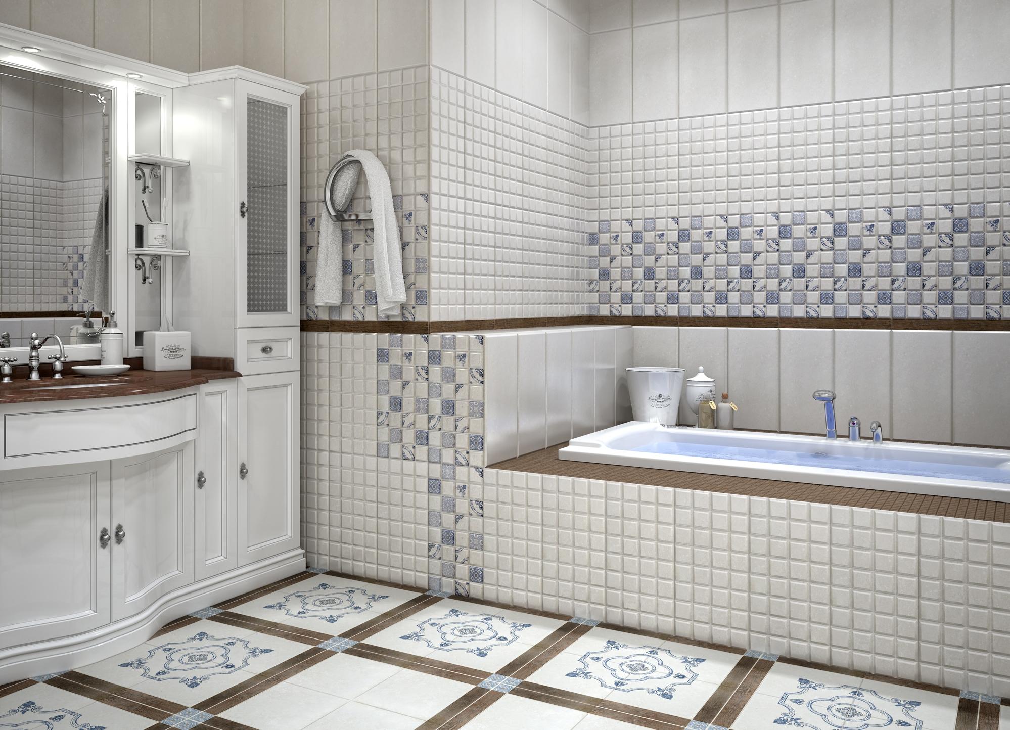 Дизайн ванной из плитки дарлингтон 490