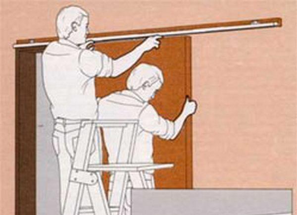 Дверь на колесиках своими руками