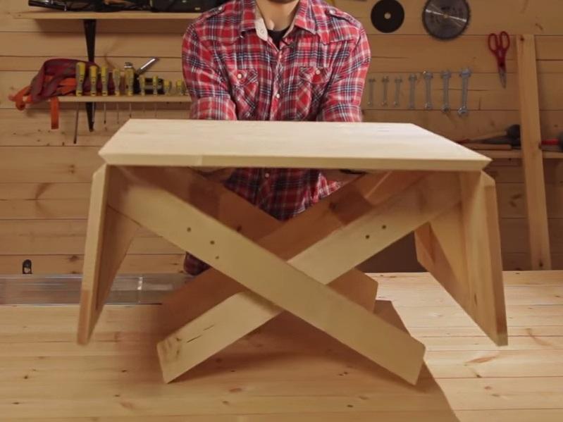 Простейший раскладной стол своими руками 63