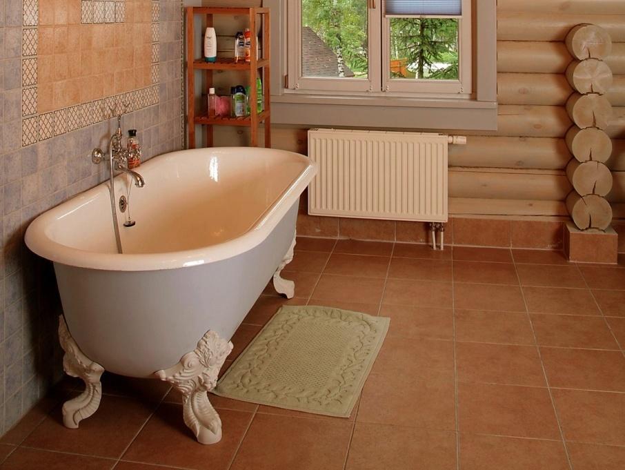 Деревянный пол в ванной комнате своими руками в деревянном доме 65