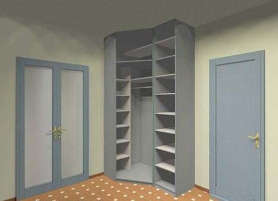 Угловой шкаф в маленькую прихожую decor 4 house.