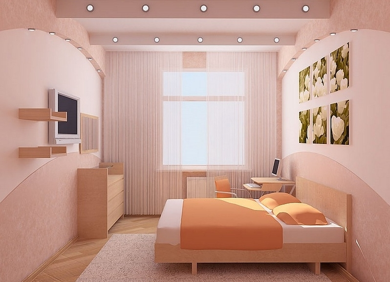 Дизайн спальной маленькой