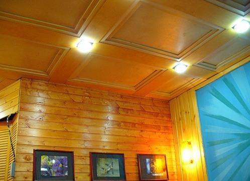 Потолок на даче быстро и дешево - идеи.