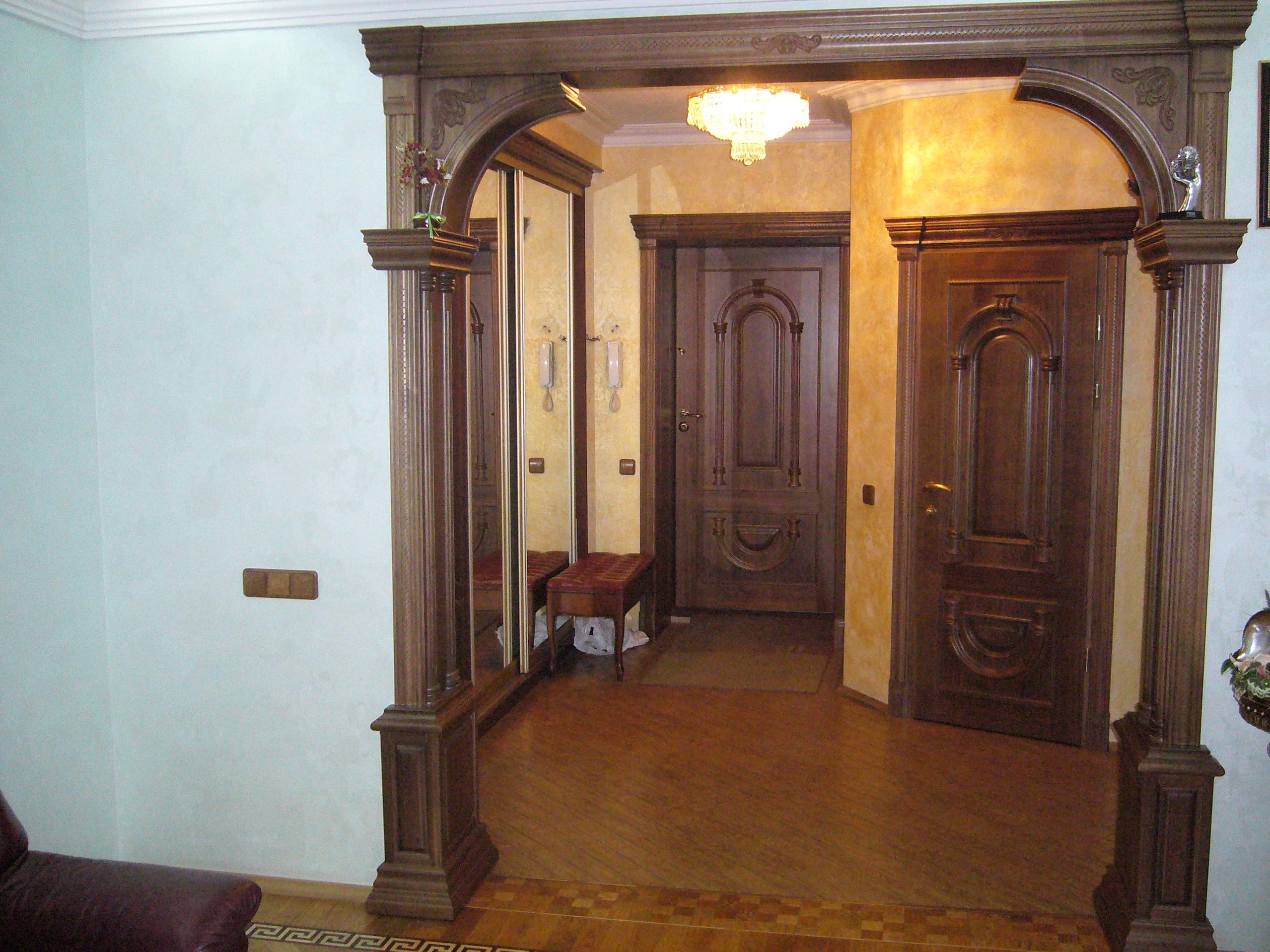 Прямоугольная арка в дверной проем