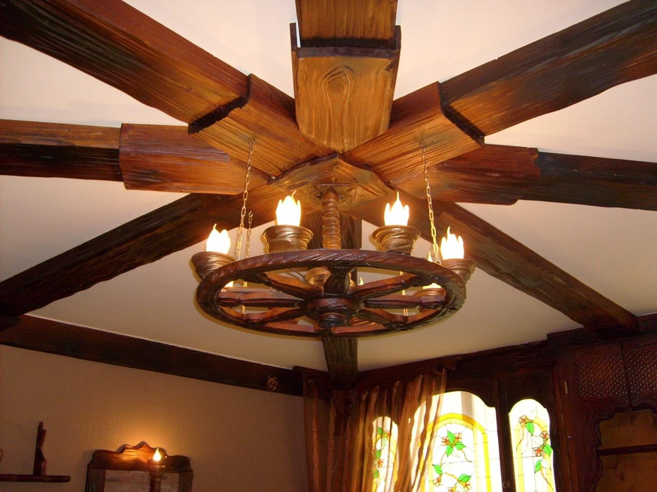Деревянный светильник в беседку своими руками