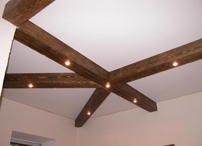 Балки на потолок декоративные своими руками