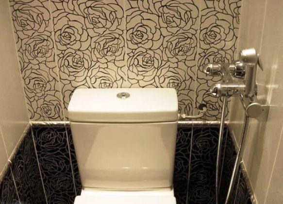 Туалет дизайн маленький панелями