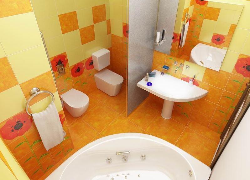 дизайн интерьера ванной комнаты совмещенной с туалетом
