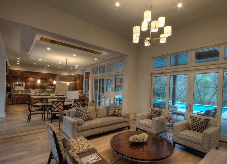 Дизайн кухни с гостиной в частном доме фото